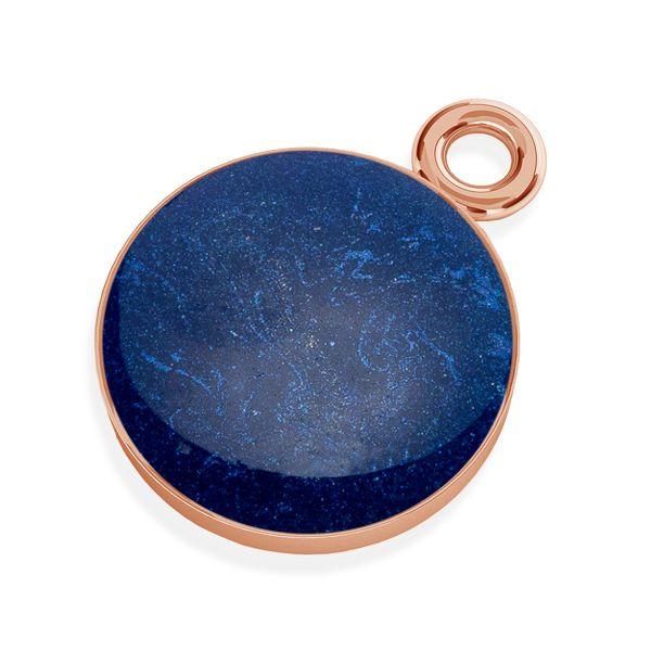 Yellow epoxy resin pendant, silver 925, SILVEXCRAFT-PENDANT 009