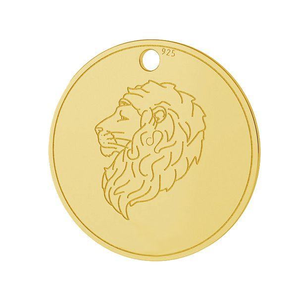 Lion zodiac pendant, sterling silver 925, LK-1451 - 0,50