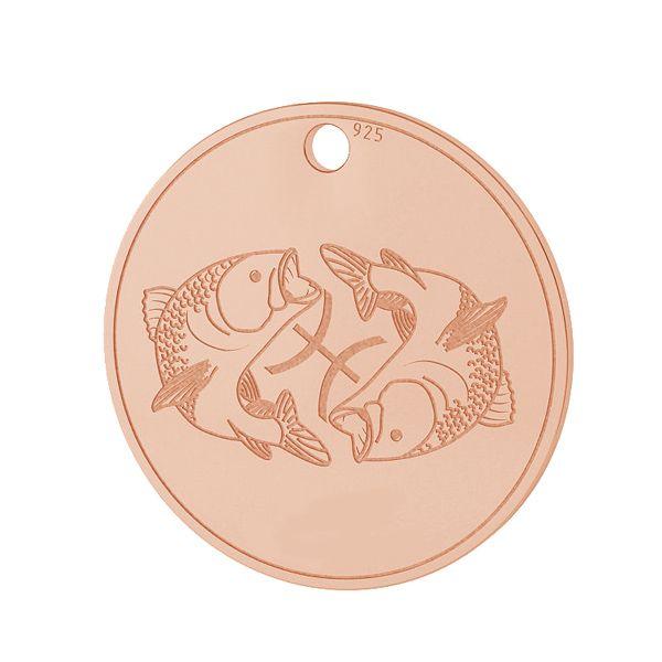 Pisces zodiac pendant, sterling silver 925, LK-1458 - 0,50