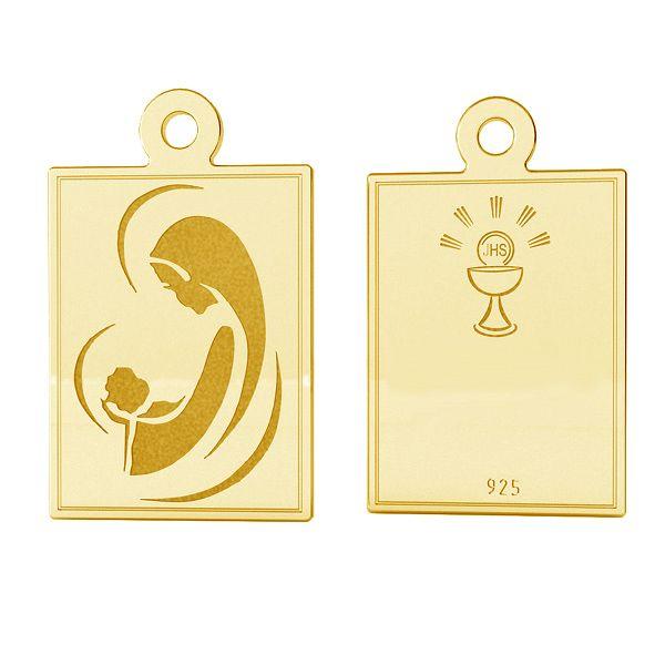 Medalion, sterling silver, LK-1486 - 0,50