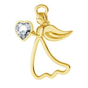 Angel pendant with swarovski Heart, silver 925, ODL-00351 ver.2