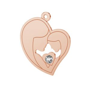 Mother & daughter charm with Swarovski Crystals, LK-0379 ver. 2