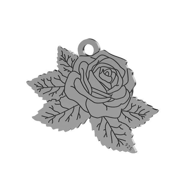 Rose pendant, sterling silver 925, LK-1476 - 0,50