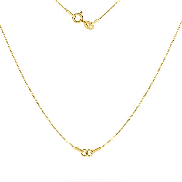 Gold necklace chain base, gold 14K, SG-CHAIN 3 - (20+20 cm) AU 585 14K