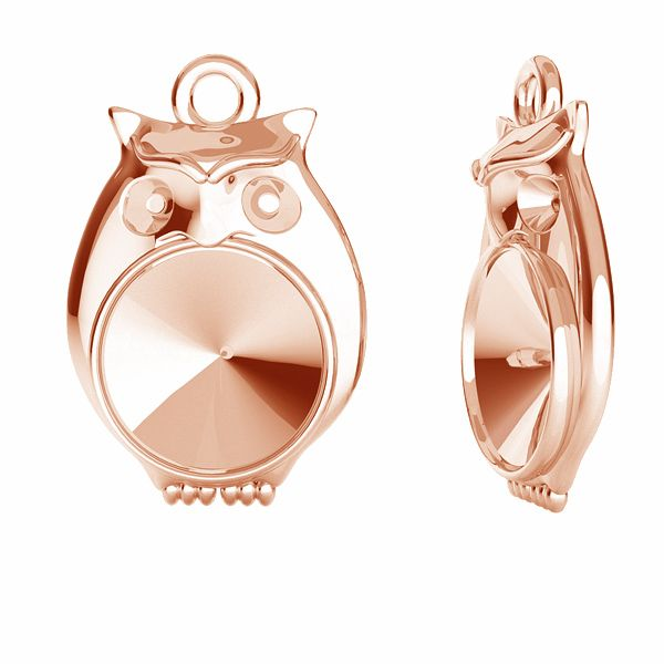 Owl pendant for Swarovski Rivoli 6 mm, sterling silver, ODL-00389 (1122 SS 29)