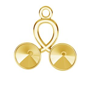 Cherry pendant base for Swarovski Rivoli 6 mm, sterling silver, ODL-00388 (1122 SS 29)