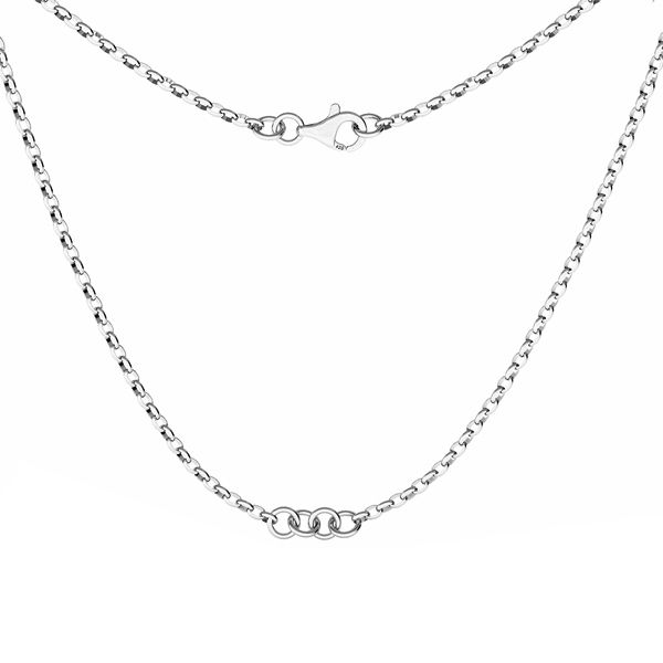 Necklace base, sterling silver 925, S-CHAIN 29 (ROLO OVAL 0,35X0,60)