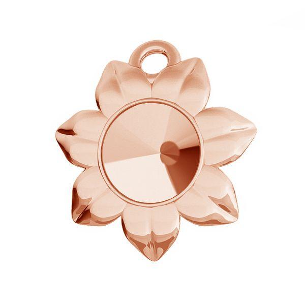 Flower pendant base for Swarovski Rivoli 6 mm, sterling silver, ODL-00448 (1122 SS 29)