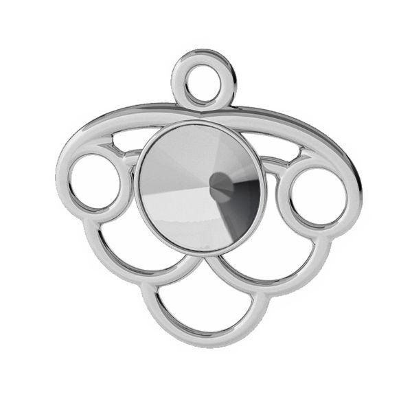 Decorative pendant base for Swarovski Rivoli 6 mm, sterling silver, ODL-00449 (1122 SS 29)
