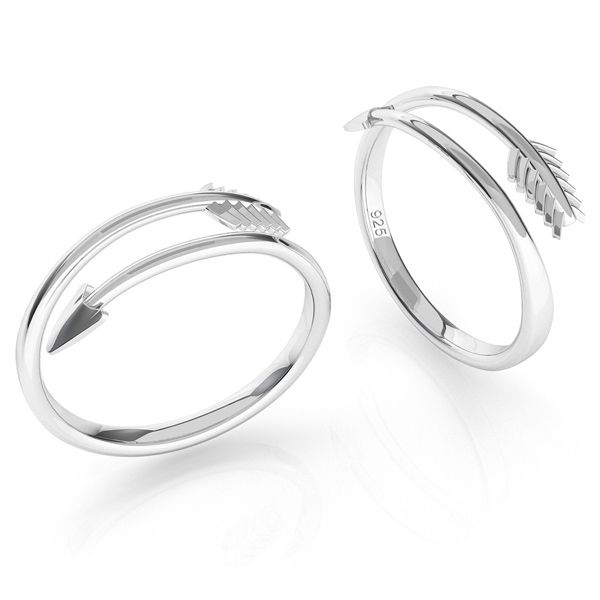 Arrow ring, sterling silver, ODL-00451