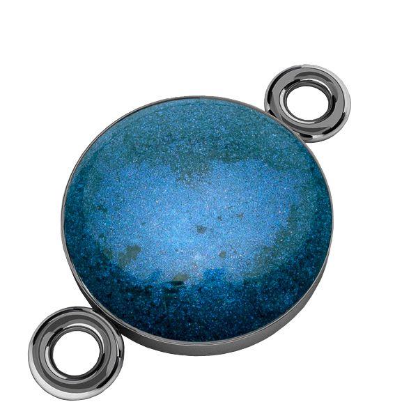 Color epoxy resin pendant connector, silver 925, SILVEXCRAFT-PENDANT 012