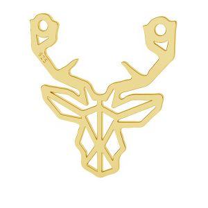Origami deer pendant, sterling silver, LK-1504 - 0,50