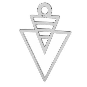 Origami triangle pendant, sterling silver, LK-1509 - 0,50