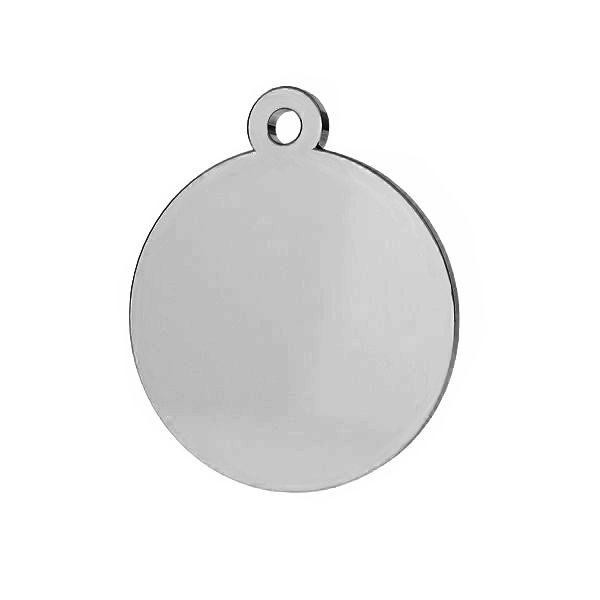 Round pendant tag, sterling silver, LKM-2002