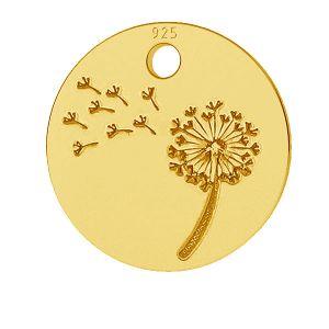Dandelion pendant, sterling silver, LKM-2008