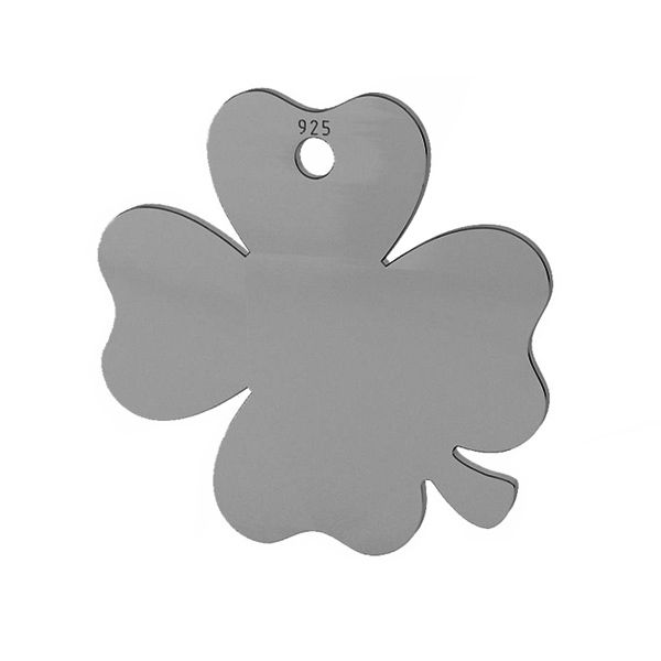 Clover pendant tag, sterling silver, LKM-2024