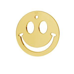 Smile emotikon pendant tag, sterling silver, LKM-2025