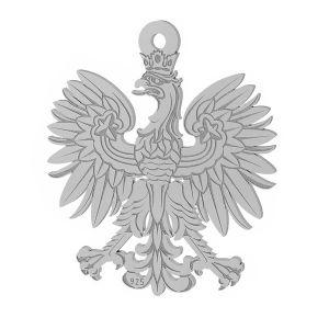 Eagle pendant, sterling silver, LKM-2041