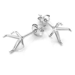 Earrings Swarovski base 6 mm, sterling silver, KLSB 23 (1088 SS 29)