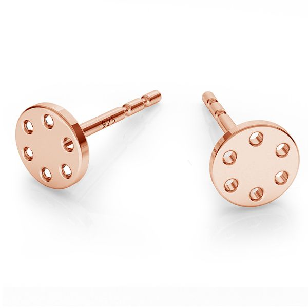 Round earrings, sterling silver 925, LK-1485 KLS - 0,50