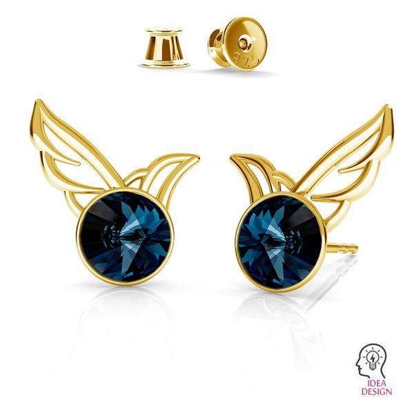 Wing earrings for Rivoli 6mm ODL-00455 KLS (1122 SS 29) L+R