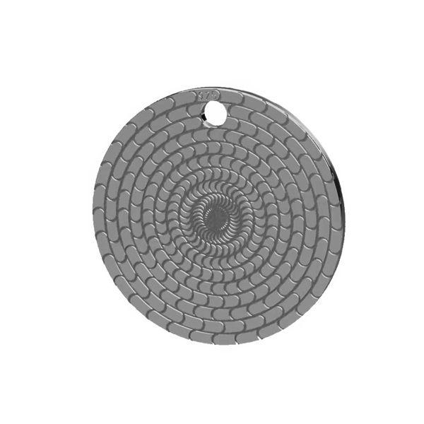 Round pendant hypno, sterling silver, LK-1480 - 0,50
