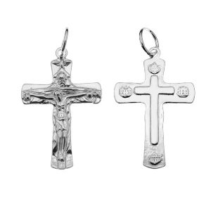 Crucifix pendant, sterling silver 925, ODL-00323