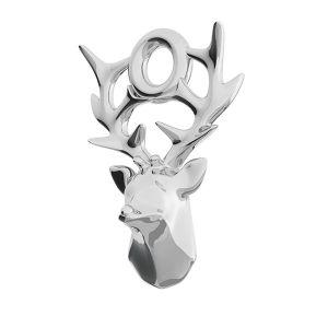 Deer pendant, sterling silver, ODL-00469