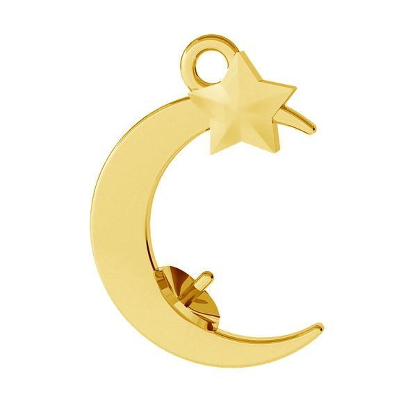 Moon pendant, pearl 8 mm base, sterling silver, ODL-00470 (5818 MM 8)