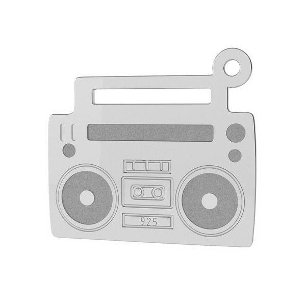 Tape recorder pendant tag, sterling silver, LK-1430 - 0,50