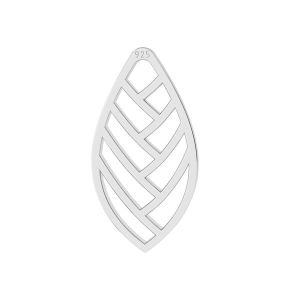Leaf pendant, sterling silver, LKM-2104 - 0,50