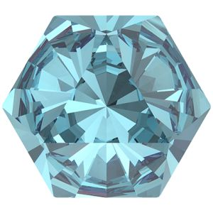 4699 MM 9,4X 10,8 AQUAMARINE F, Kaleidoscope Hexagon Fancy Stone