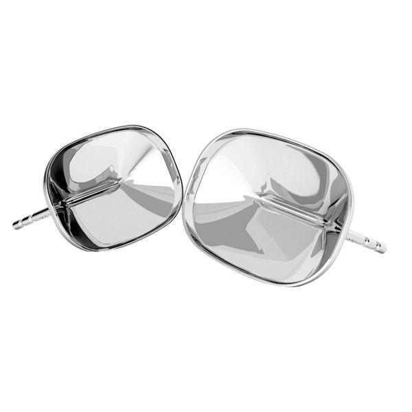 Sterling silver earrings Cushion Fancy Stone base, OKSV 4568 MM 14,0X 10,0 BO