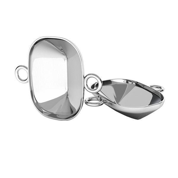 Sterling silver pendant connector Cushion Fancy Stone base, OKSV 4568 MM 14,0X 10,0 OKSV 4568 MM 14,0X 10,0 CON 2