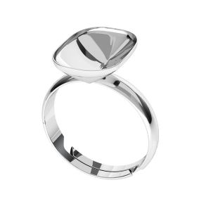 Sterling silver ring Cushion Fancy Stone base, OKSV 4568 MM 14,0X 10,0 S-Ring Universal