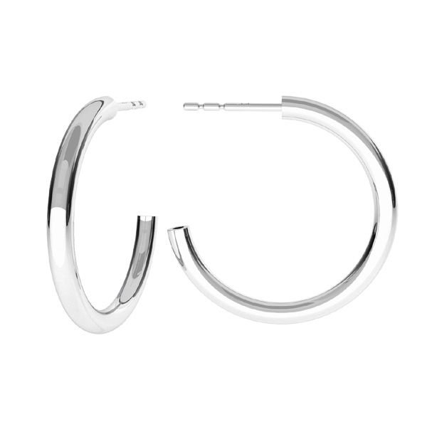 Semicircular earrings, sterling silver 925, KLS-25