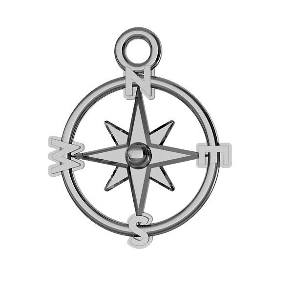 Compass pendant, sterling silver, ODL-00465