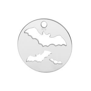 Bat pendant, sterling silver, LK-1561 - 0,50