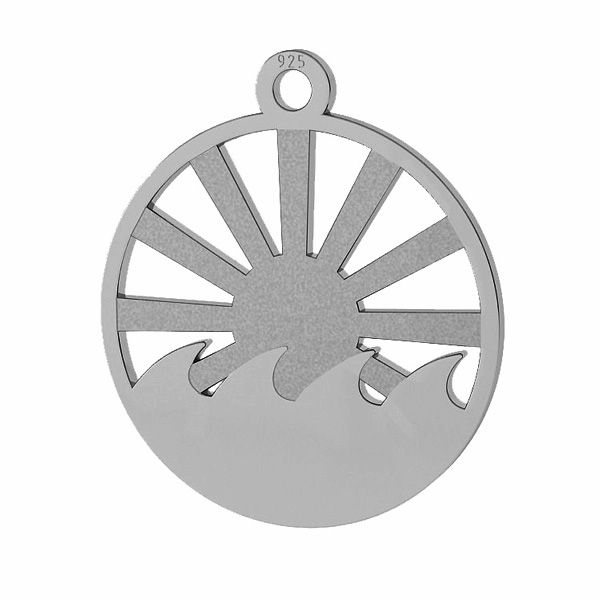 Sun pendant, sterling silver, LKM-2097 - 0,50