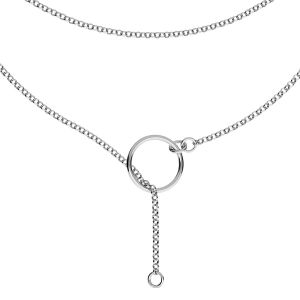 Necklace base, sterling silver 925, S-CHAIN 31 (ROLO 035)