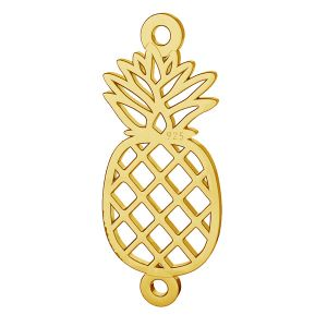 Origami pineapple pendant connector, sterling silver, LK-1506 - 0,50