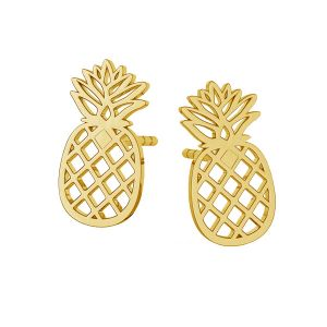 Pineapple earrings, sterling silver 925, LKM-2115 KLS - 0,50