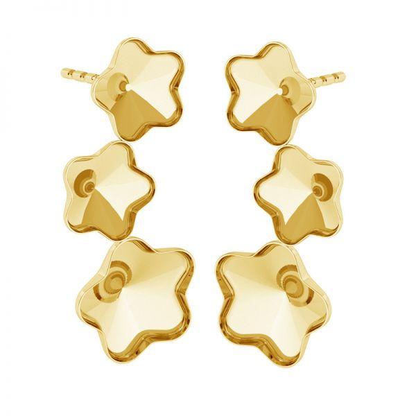 Sterling silver earrings Swarovski flower base, FKSV 4744 KLS 1