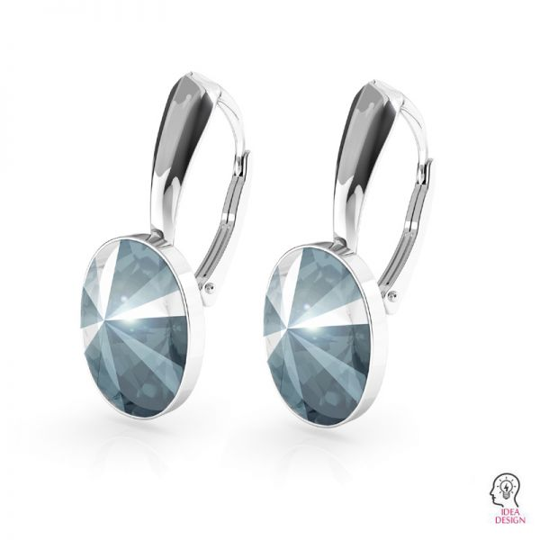 Sterling silver earrings Swarovski base, OKSV 4122 MM 14,0 BA