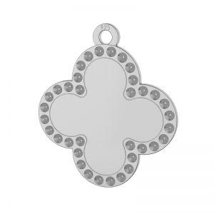 Clover pendant, Swarovski base, sterling silver, LKM-2134 - 0,80 (1028 PP 4)