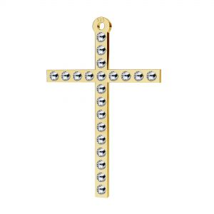 Cross pendant with Swarovski Crystals, sterling silver, LKM-2119 - 0,80 ver.2