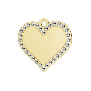 Heart pendant with Swarovski Crystals, sterling silver, LKM-2139 - 0,80 ver.2