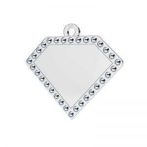 Diamond pendant with Swarovski Crystals, sterling silver, LKM-2142 - 0,80 ver.2