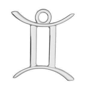 Gemini zodiac pendant, sterling silver 925, ODL-00570