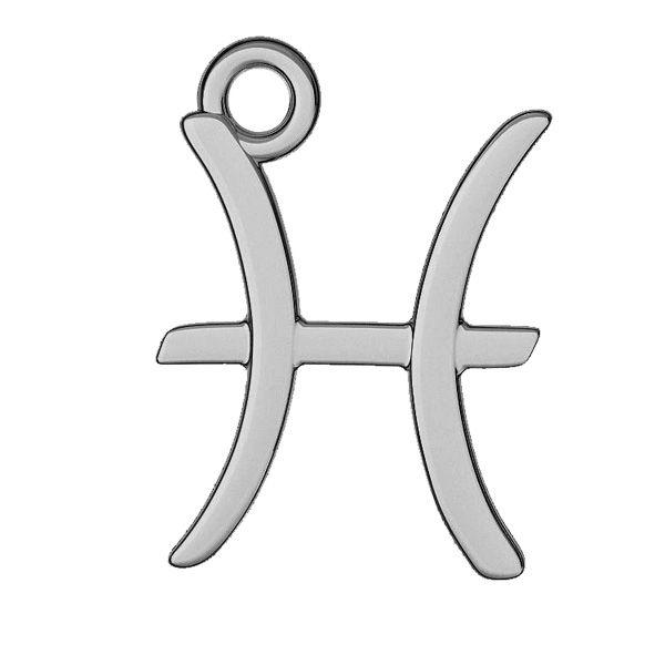 Pisces zodiac pendant, sterling silver 925, ODL-00528